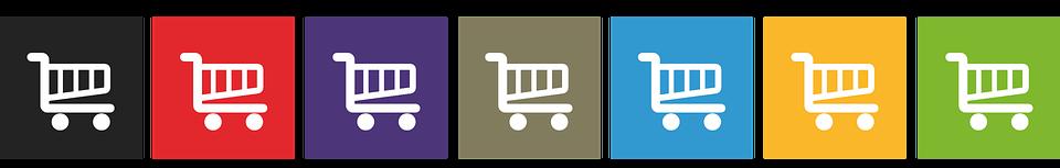 Baukasten online-shops mit verschiedenen Paketen