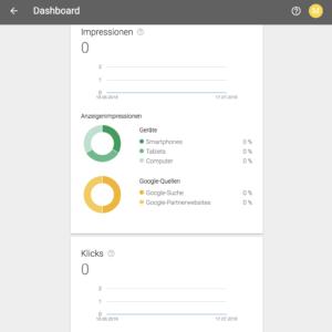 Dashboard von Google Adwords einsehen