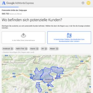 Zielgruppe festlegen für Google Adwords