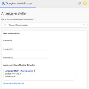 Titel und Beschreibung für Adwords Anzeigen erstellen